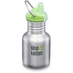 Klean Kanteen Classic Drinkfles 355ml met New Sippy Cap, brushed stainless